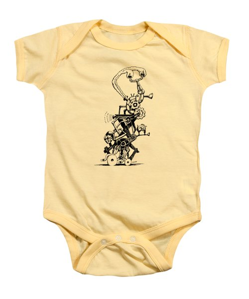 Rat Reverse-cycle Steam Engine Baby Onesie