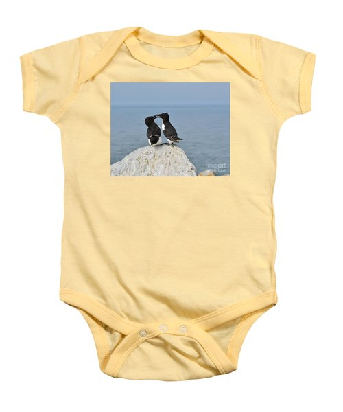 Razorbills In Love Baby Onesie