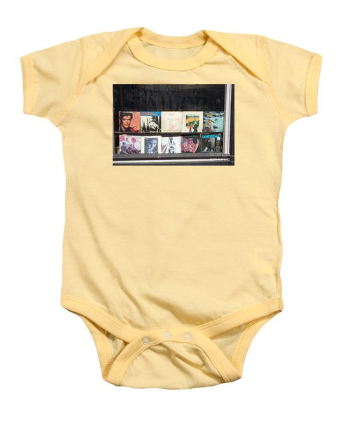 Record Store Burlington Vermont Baby Onesie by Edward Fielding
