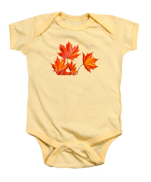 Red Maple Baby Onesie by Christina Rollo