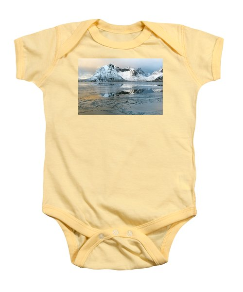 Reine, Lofoten 5 Baby Onesie by Dubi Roman
