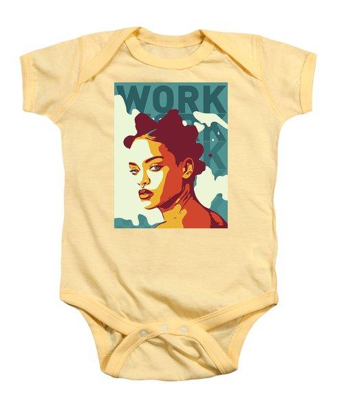 Rihanna Baby Onesie by Greatom London