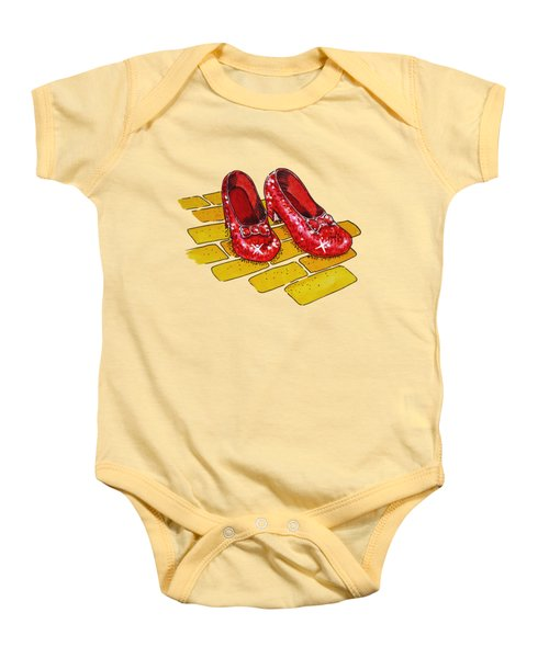 Ruby Slippers Wizard Of Oz Baby Onesie