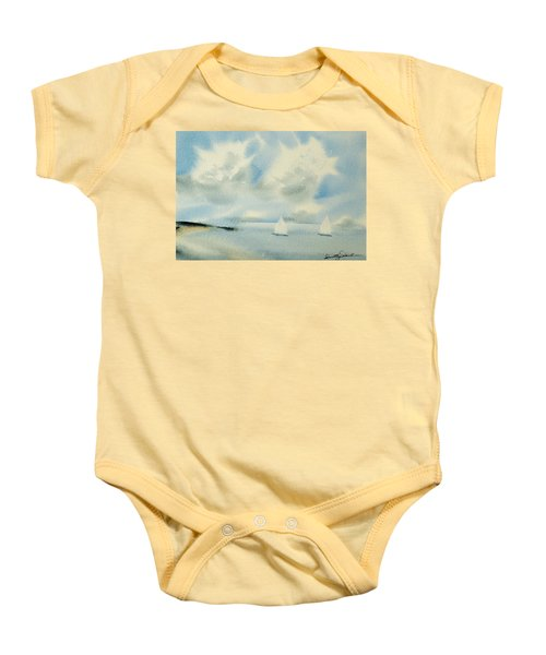 Sailing Into A Calm Anchorage Baby Onesie