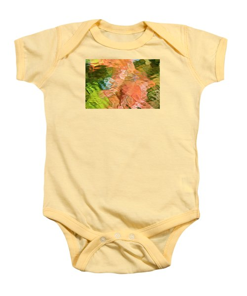 Salmon Mosaic Abstract Baby Onesie