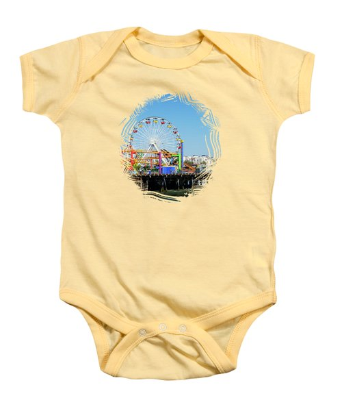 Santa Monica Ferris Wheel Baby Onesie