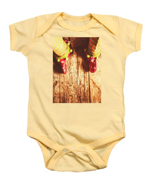 Santas Little Helper Baby Onesie
