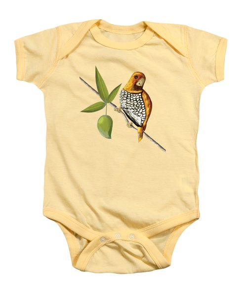 Scaly Breasted Munia D Baby Onesie by Thecla Correya