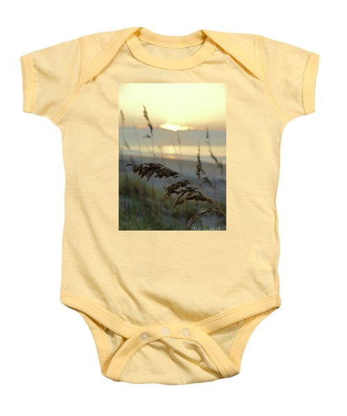 Sea Oats At Sunrise Baby Onesie