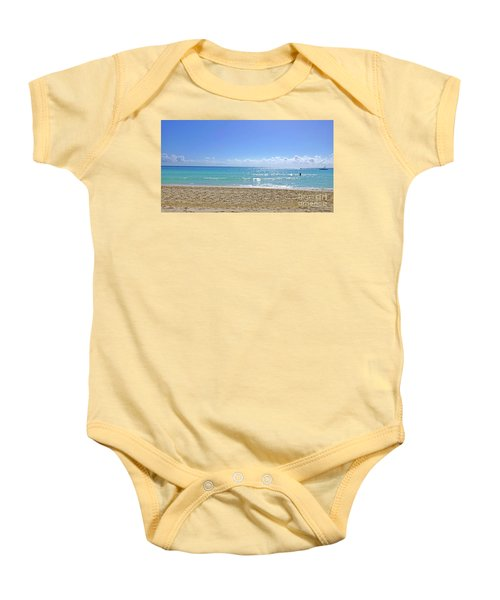 Baby Onesie featuring the photograph Sea View M2 by Francesca Mackenney