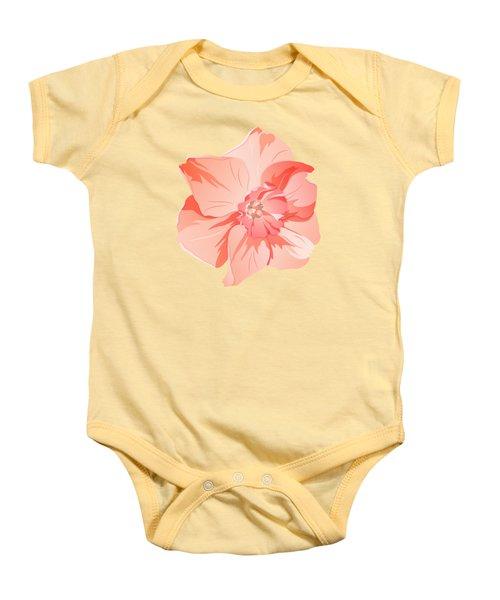 Short Trumpet Daffodil In Warm Pink Baby Onesie