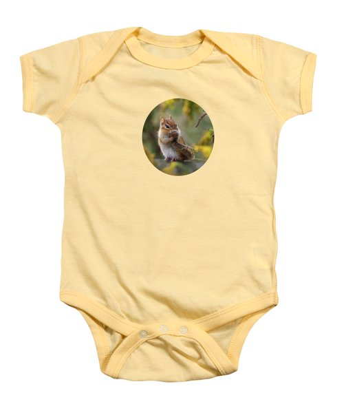 Shy Little Chipmunk Baby Onesie