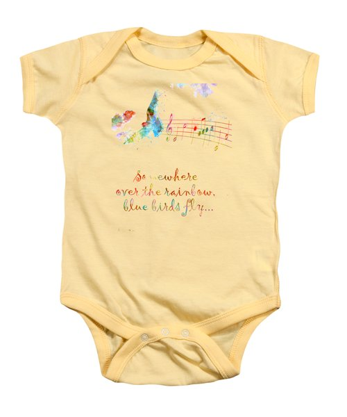Somewhere Over The Rainbow Baby Onesie