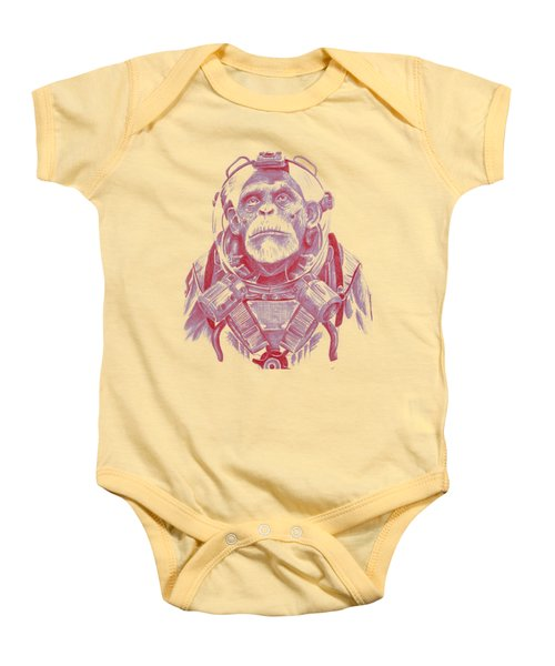 Space Chimp Baby Onesie by Kenny Noorlander