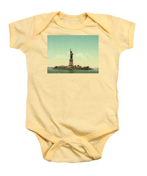 Statue Of Liberty, New York Harbor Baby Onesie