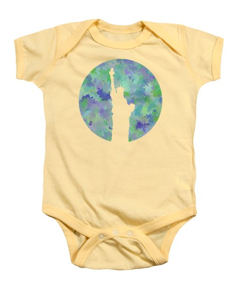 Statue Of Liberty Silhouette Baby Onesie by Phil Perkins