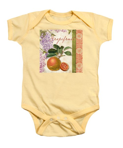Summer Citrus Grapefruit Baby Onesie by Mindy Sommers