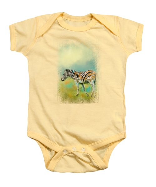 Summer Zebra 2 Baby Onesie by Jai Johnson