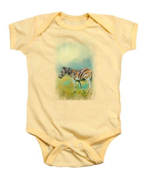 Summer Zebra 2 Baby Onesie