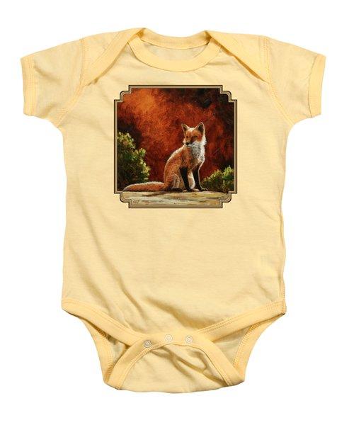 Sun Fox Baby Onesie