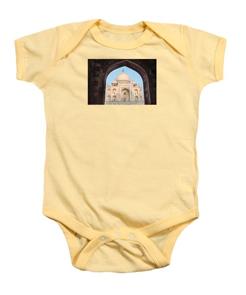 Sunrise Arches Of The Taj Mahal Baby Onesie