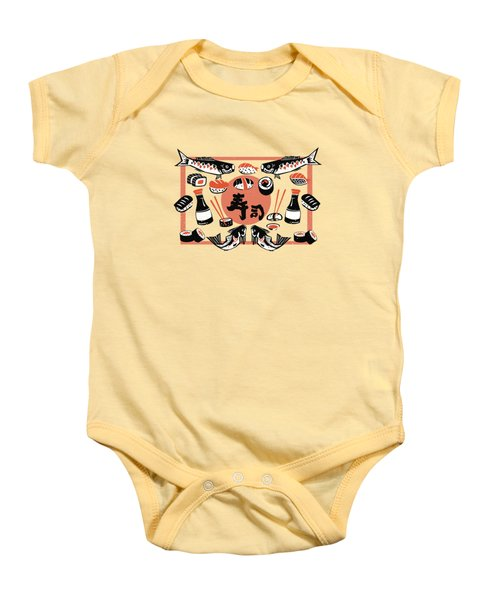 Sushi And Soy Sauce Baby Onesie