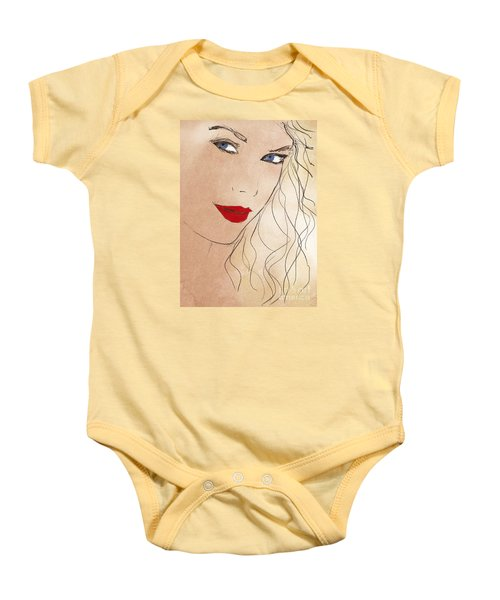 Taylor Red Lips Baby Onesie by Pablo Franchi