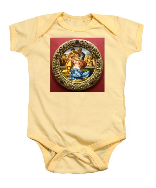 The Holy Family - Doni Tondo - Michelangelo Baby Onesie