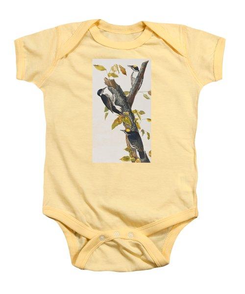 Three Toed Woodpecker Baby Onesie