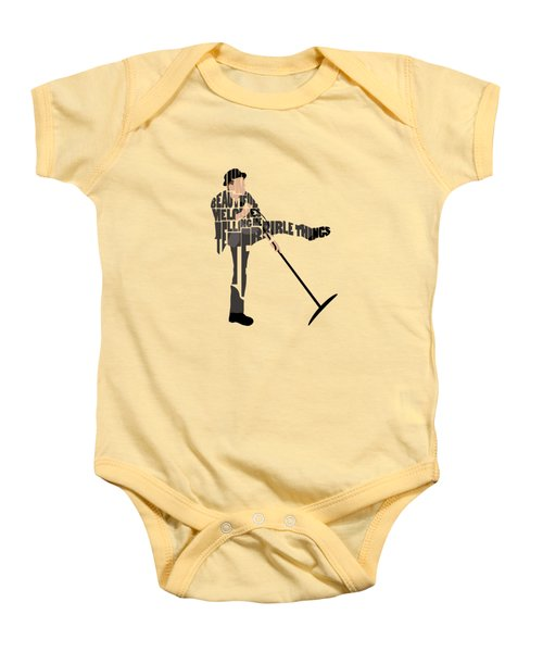 Tom Waits Typography Art Baby Onesie
