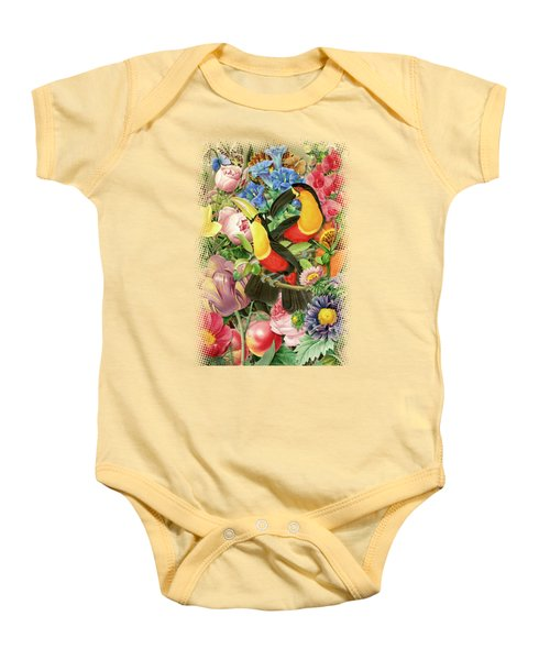 Toucans Baby Onesie by Gary Grayson