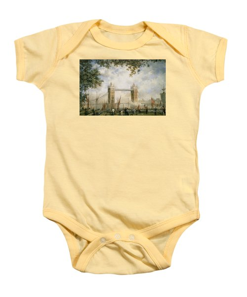 Tower Bridge - From The Tower Of London Baby Onesie by Richard Willis