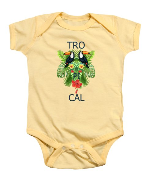 Tropical Summer  Baby Onesie