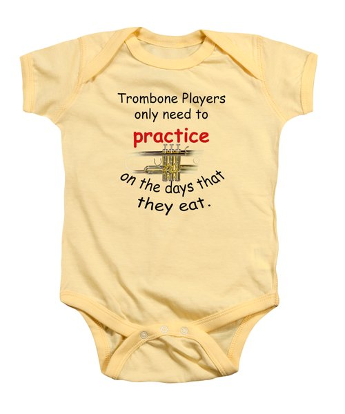 Trumpets Practice When They Eat Baby Onesie