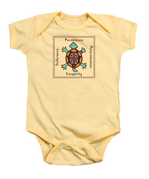 Turtle Animal Spirit Baby Onesie
