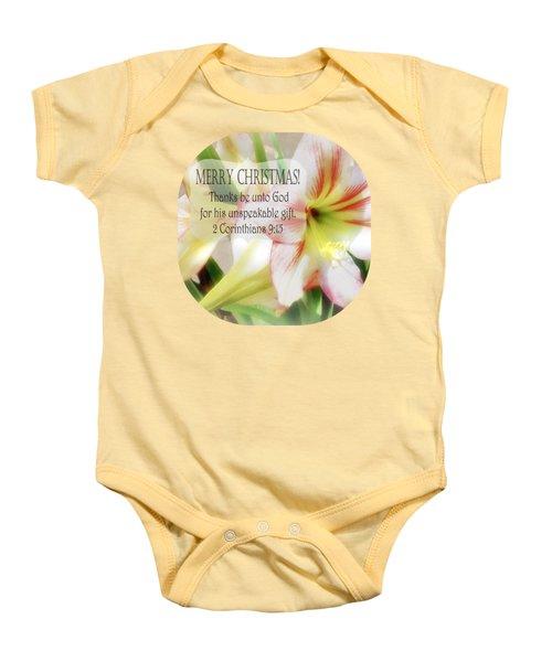 Unspeakable Gift Baby Onesie