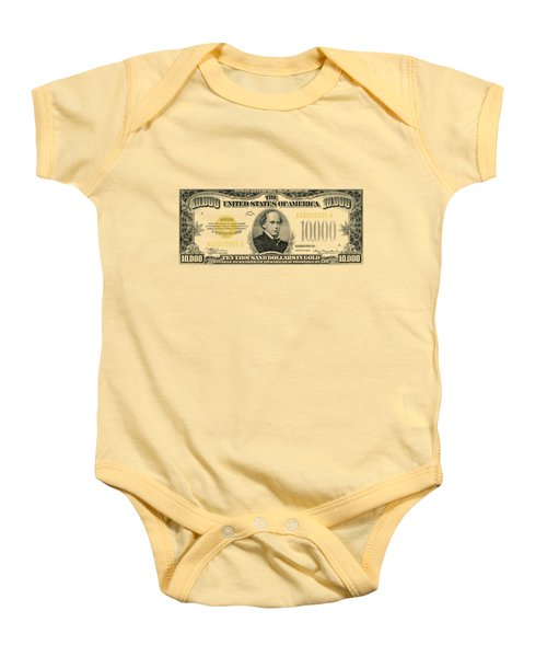 U.s. Ten Thousand Dollar Bill - 1934 $10000 Usd Treasury Note Baby Onesie