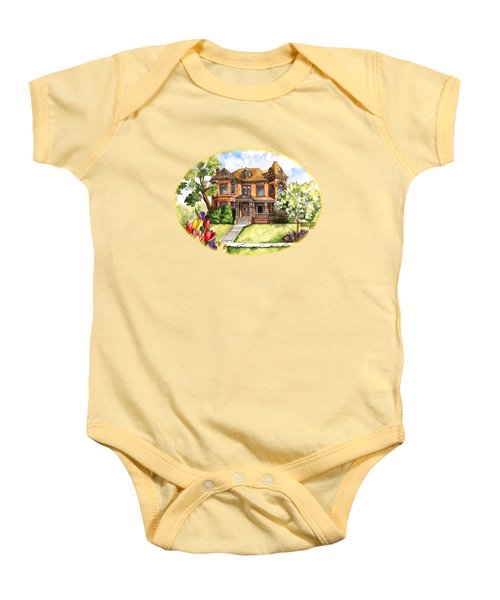 Victorian Mansion In The Spring Baby Onesie