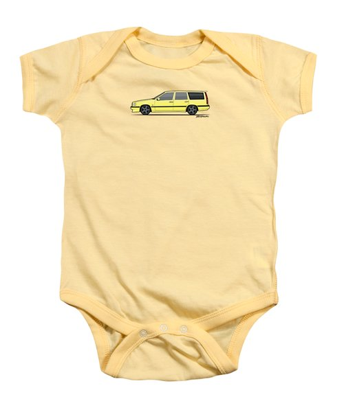 Volvo 850r 855r T5-r Swedish Turbo Wagon Cream Yellow Baby Onesie