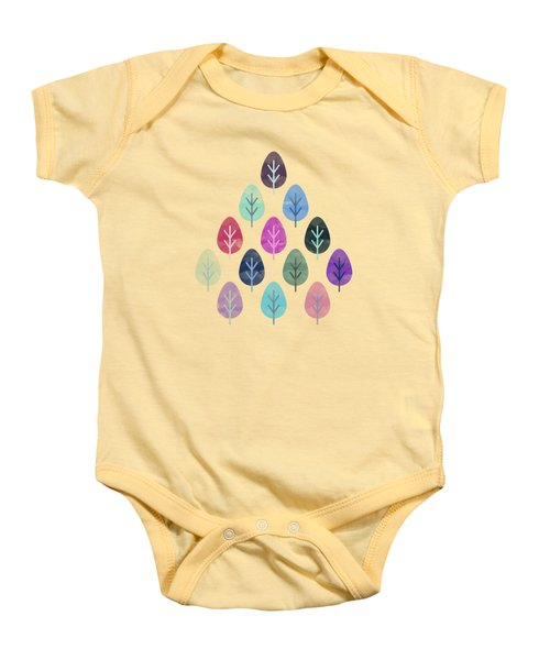 Watercolor Forest Pattern  Baby Onesie by Amir Faysal
