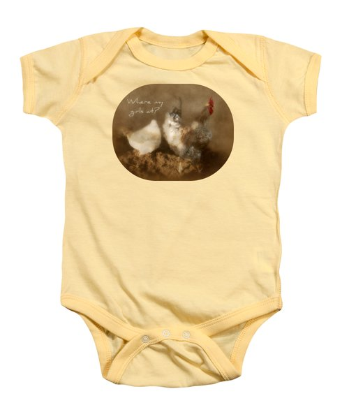 Where My Girls At Baby Onesie by Anita Faye