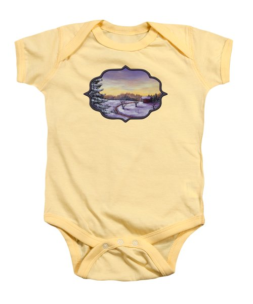 Winter In Vermont Baby Onesie