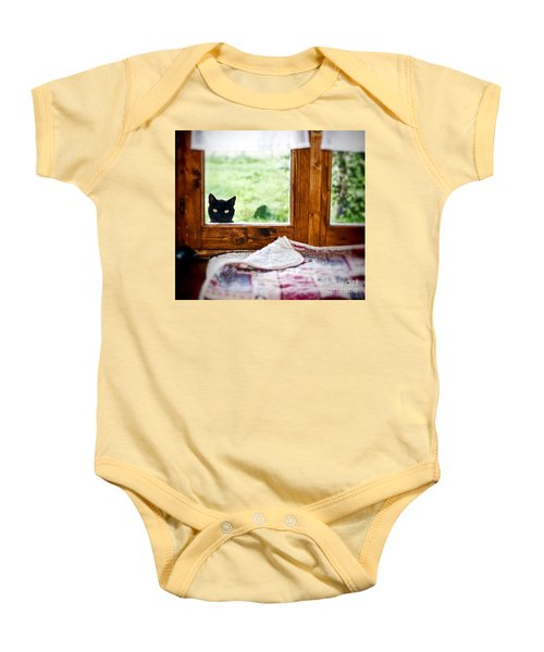 Wondering What's She... Better Investigate Baby Onesie by Silvia Ganora