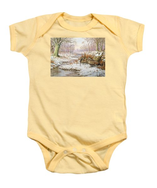 Woodcock Baby Onesie by Carl Donner