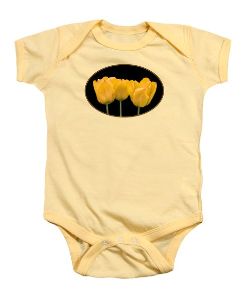 Yellow Tulip Triple Baby Onesie