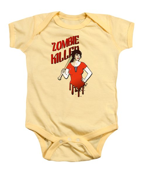 Zombie Killer Baby Onesie by Nicklas Gustafsson