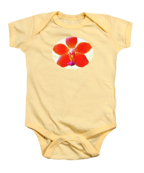 Screenplay Of An Orchid  Baby Onesie