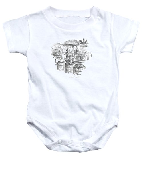 . . . And Don't Nibble! Baby Onesie by Alan Dunn