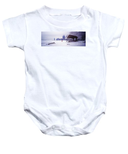 North Ave Beach Chess Palv Chicago Lake Front  Baby Onesie