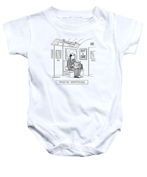 Targeted Advertising A Man Sits On The Subway Baby Onesie